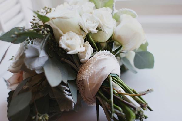 Vintage Handkerchief Bouquet Wrap