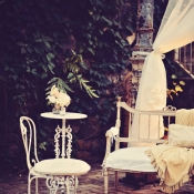 Vintage Seating Area at Reception