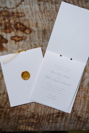 Wax Seal Ceremony Programs