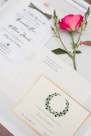 Wedding Stationery With Illustration
