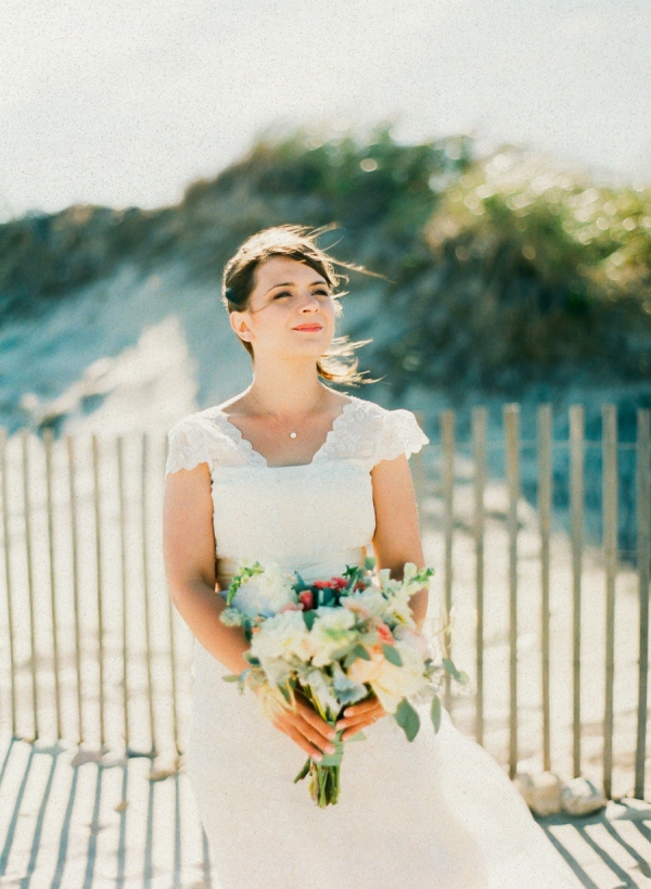 Whimsical Bride on the Beach