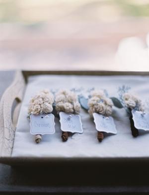 White Flowerbud Boutonnieres