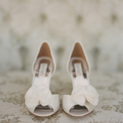 White Peep Toe Bridal Shoes