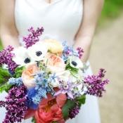 Wild Floral Lilac Anemone Bouquet by Fleur