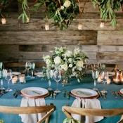 Aqua and Green Tabletop