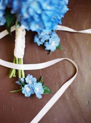 Blue Floral Boutonnieres