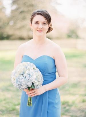 Blue Hydrangea Bouquet Bridesmaid