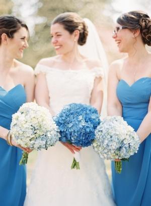 Blue Hydrangea Bouquets