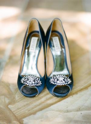 Blue Satin Bridal Shoes