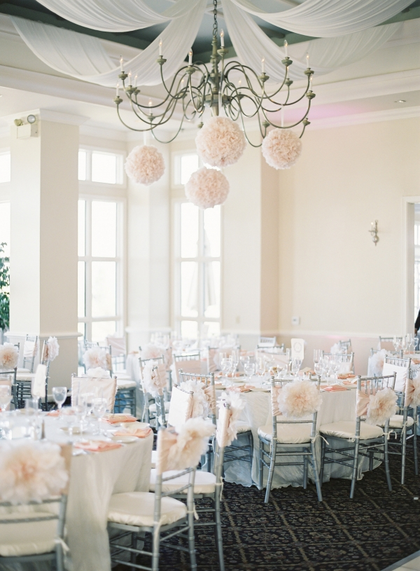 Blush and Silver Reception