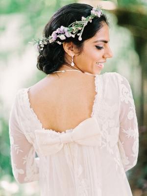 Bow Back Bridal Dress
