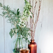 Branches in Copper Pots
