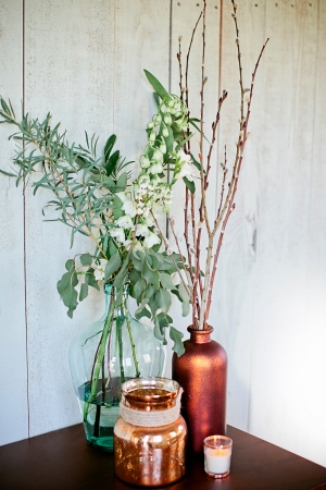 Branches in Copper Pots