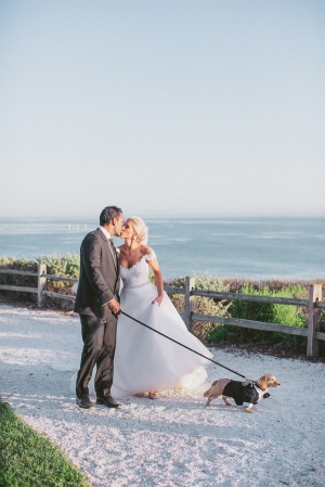 Bride and Groom with Dog1