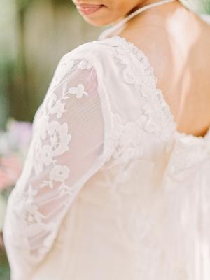 Bride in Long Sleeves