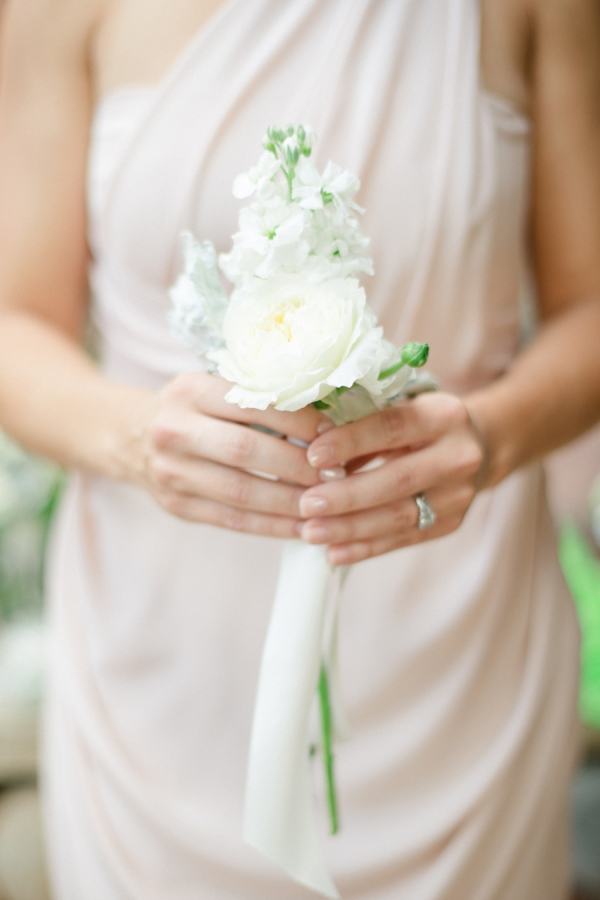 Bridesmaid with Posy Bouquet