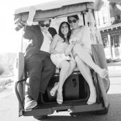 Bridesmaids on Golf Cart