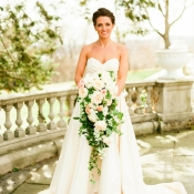 Cascading Rose and Greenery Bridal Bouquet