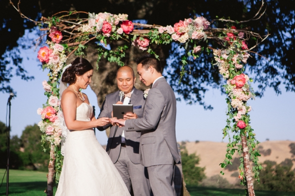 Ceremony Arbor With Flower Garland