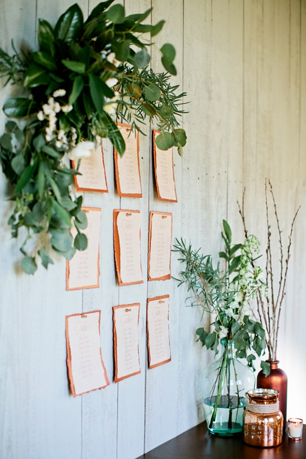 Chic Rustic Seating Chart