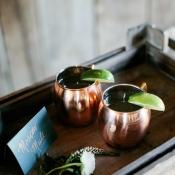 Copper Cocktail Glasses