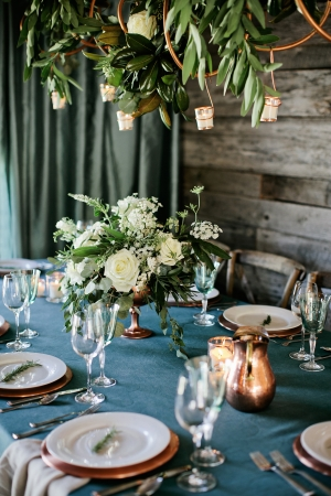 Copper and Aqua Tabletop