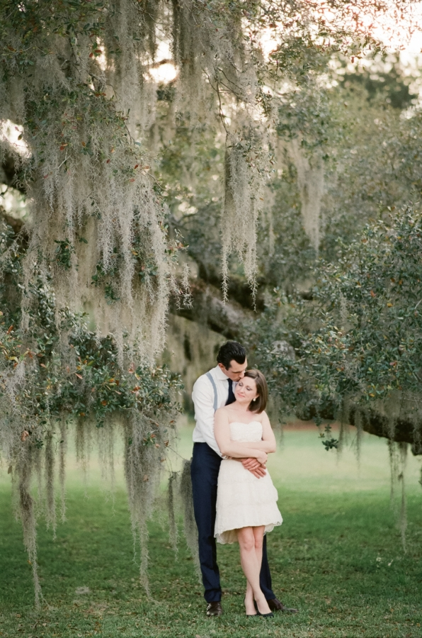 Couple Under Tree with Spanish Moss