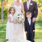Couple with Flower Girl and Ring Bearer