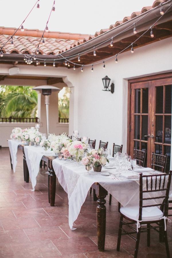 Dark Wooden Wedding Tables
