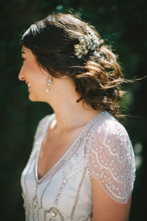 Delicate Beaded Jenny Packham Bridal Gown