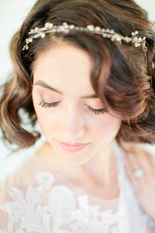 Delicate Pearl Headband Bridal Hair Ideas