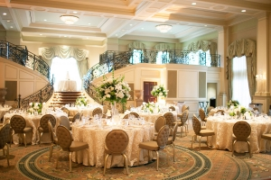 Elegant Cream and Gold Country Club Reception