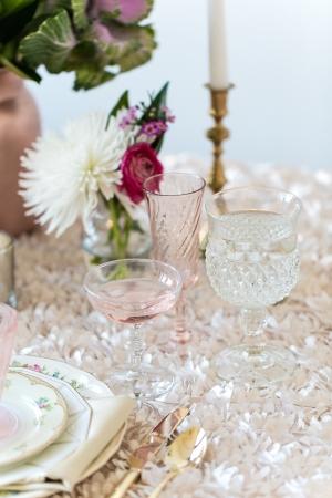 Elegant Gold and Blush Reception Ideas