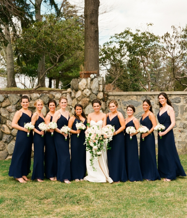 Elegant Navy Bridesmaids Dresses