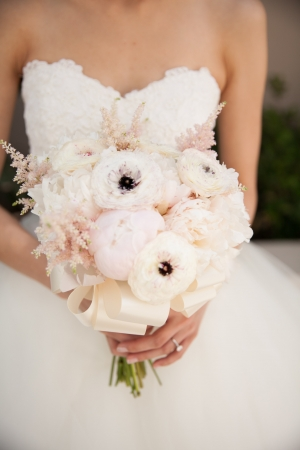 Elegant Pink and Cream Bridal Bouquet