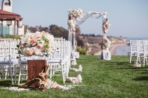 Elegant Pink and White Ceremony