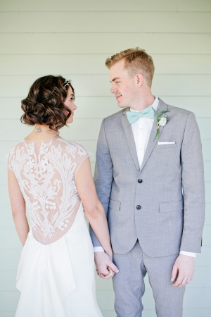 Embroidered Sheer Back Bridal Gown Ideas