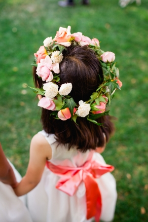Flower Girl with Rose Wreath