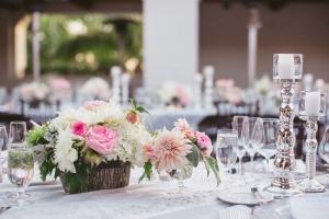 Flowers in Bark Vase