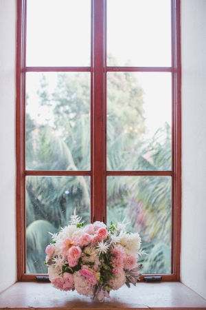 Fluffy Pink Floral Centerpiece