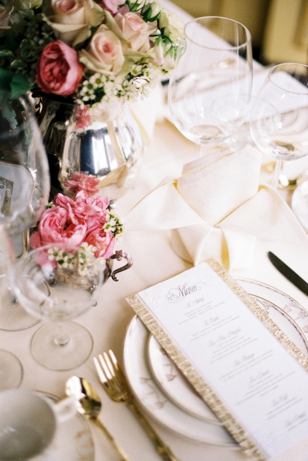 Gold Vintage Inspired Reception Table