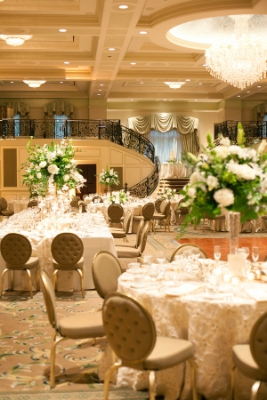 Gold and Cream Reception Decor