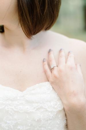 Gray Manicure Bridal Ideas