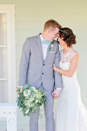 Groom in Aqua and Gray