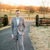Groom in Blue Bow Tie