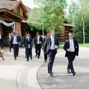 Groomsmen at Colorado Wedding