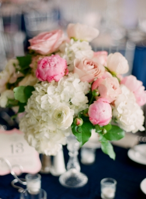 Hydrangea and Ranunculus Centerpiece