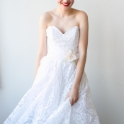 Informal Lace Bridal Gown