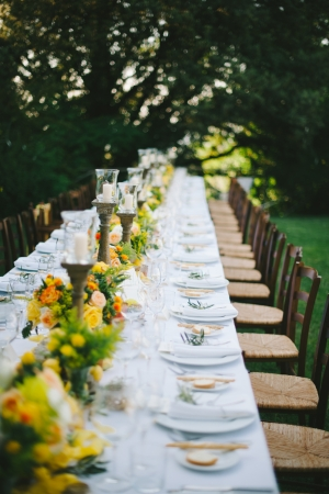 Italian Villa Outdoor Reception