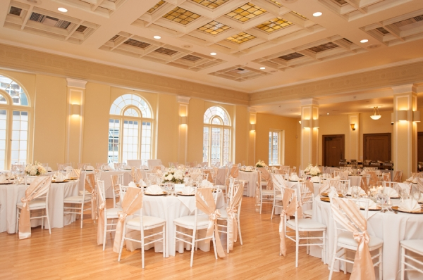 Ivory and Gold Ballroom Reception